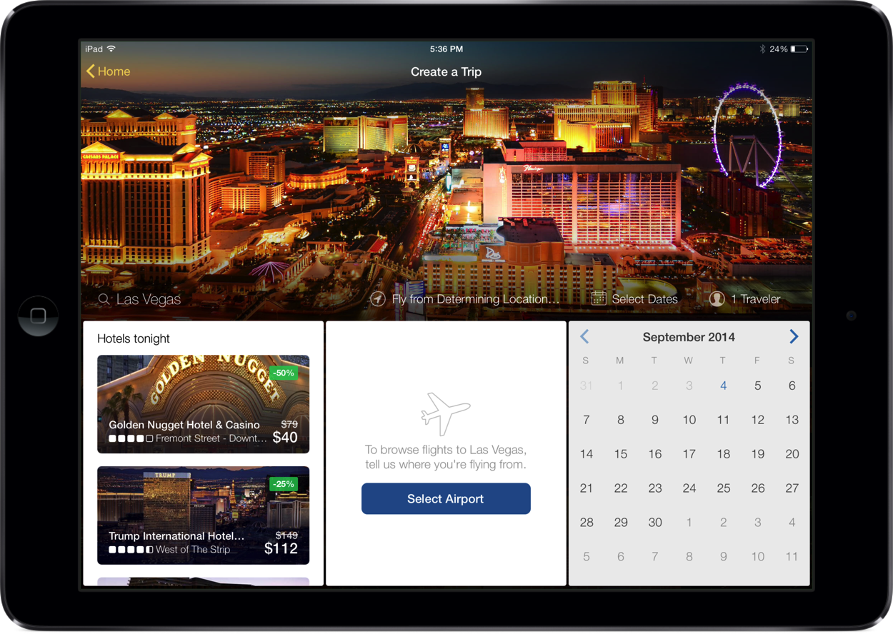 Get $100 off a hotel booking with the new Expedia Hotels & Flights app for iPad