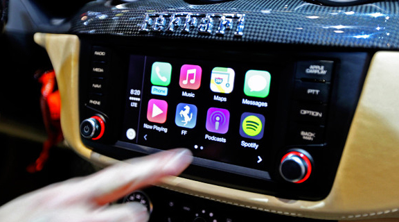 The Ferrari FF is the first car available with Apple's CarPlay technology