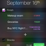 Finish update for iOS 8 brings a Notification Center widget and more to the to-do app