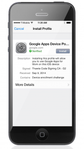 iOS Sync for Google Apps
