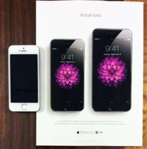 Apple shows iPhone 6 and iPhone 6 Plus in their actual sizes in new print ad campaign