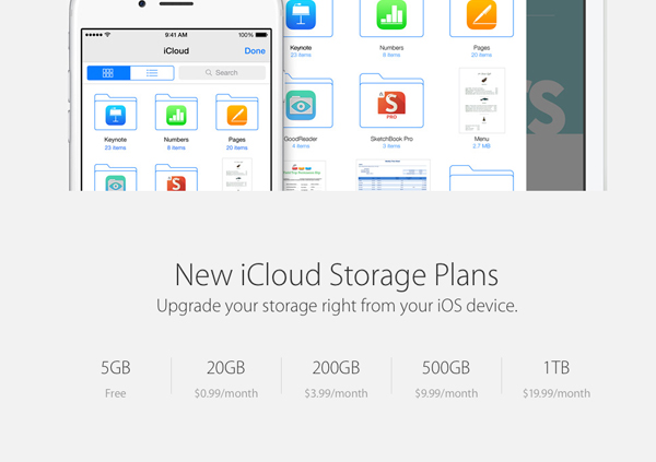 Apple finalizes iCloud Drive pricing tiers
