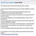 Apple releases iOS 8.0.1 with HealthKit bug fix and more