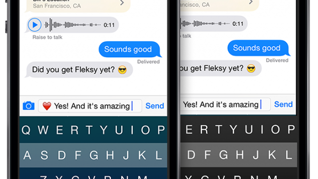 Third-party keyboards available for iOS 8 devices