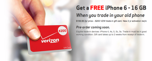 Here's how you can get a free iPhone 6 through Verizon