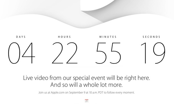 Apple will offer a live stream of the Sept. 9 'iPhone 6' and 'iWatch' event