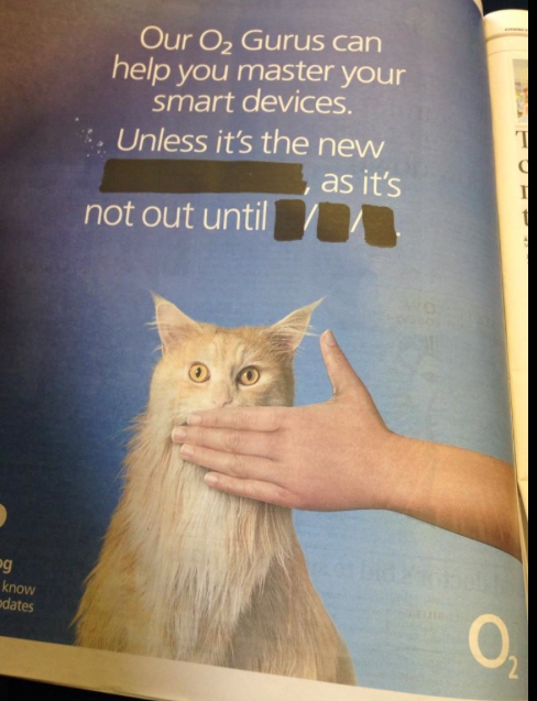 British carrier O2 hits the funny bone with a newspaper ad teasing Apple's 'iPhone 6'