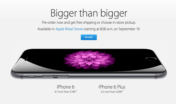 Apple says overnight preorders for the iPhone 6 and iPhone 6 Plus set a new record
