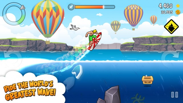 Ride the greatest wave and show off your skills in Surfy, an infinite surfing game
