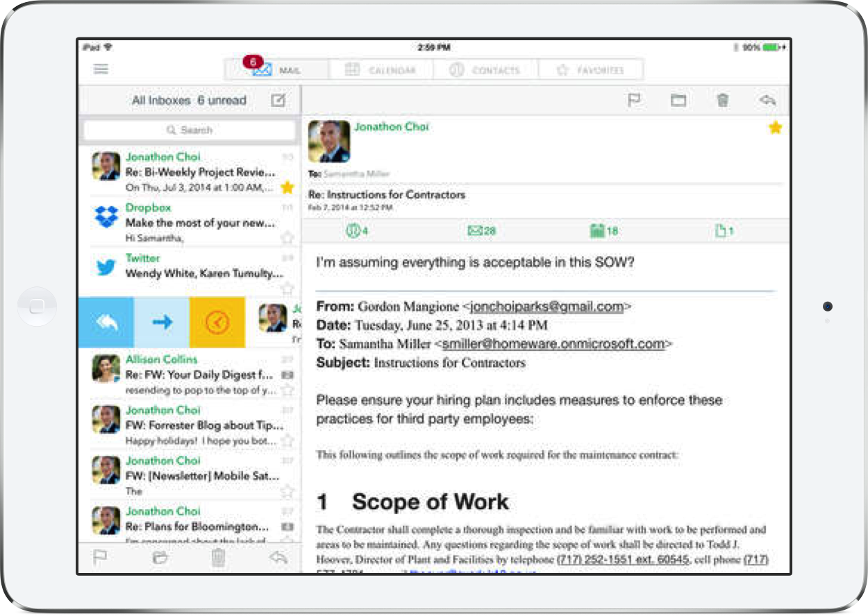 Email client Tipbit goes universal and is now fully compatible with iOS 8