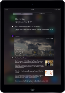 How to setup new Notification Center widgets in iOS 8