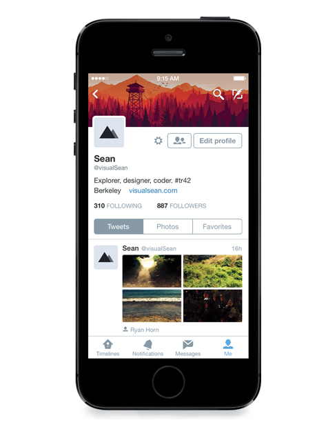 Twitter for iPhone update brings revamped profiles, adds interactive notifications in iOS 8
