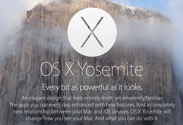 Apple releases OS X Yosemite GM Candidate 1