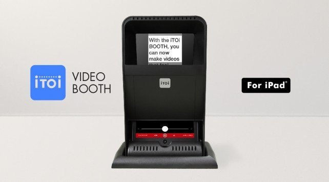Create a mini desktop studio with the new iTOi Video Booth for iPad