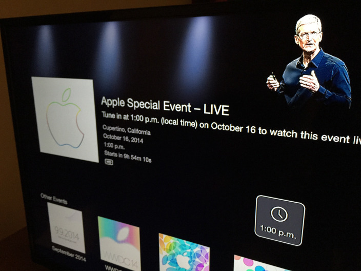 Apple TV channel for live streaming today's iPad event now available