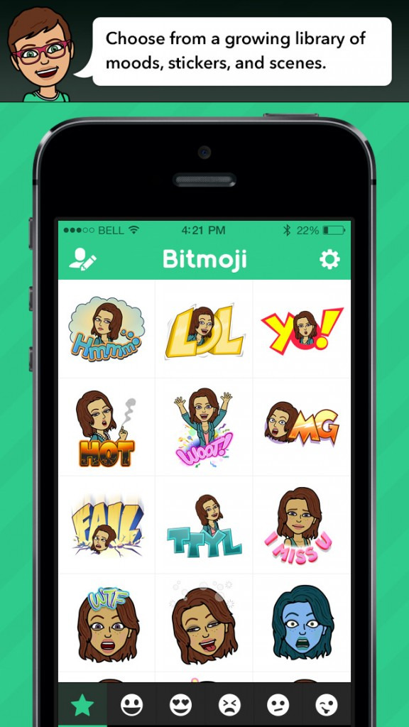 Bitmoji lets you use a custom emoji keyboard featuring your Bitstrips cartoon avatar
