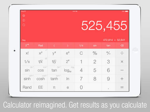 Apalon Apps releases Calc One iPad calculator app featuring 'natural' numeric keypad