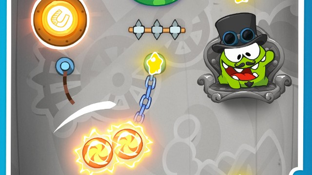 Cut the Rope: Time Travel goes way back to the magnetic age of the Industrial Revolution