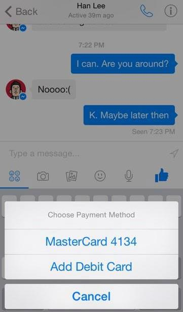 Facebook may soon enable peer-to-peer money transfer via its Messenger app