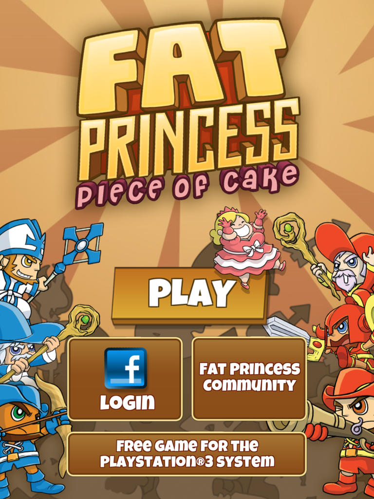 Get a free voucher for Fat Princess on PS3 by playing its Piece of Cake game on iOS