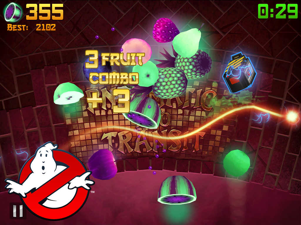 Bust some ghostly fruit as the Ghostbusters in Fruit Ninja's new Halloween edition
