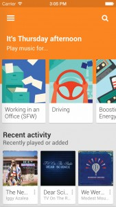 Google Play Music gains Songza integration featuring activity-based stations