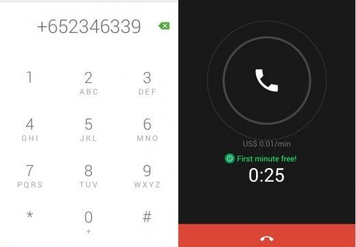 The first minute is free when you make international calls with Google's Hangouts