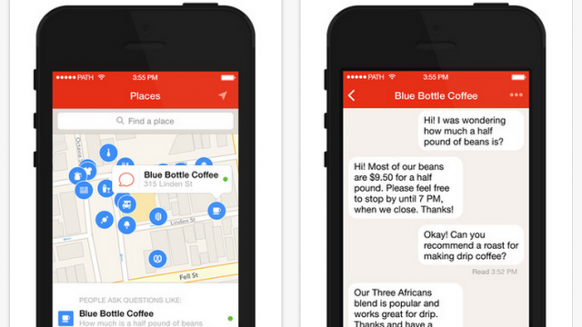 Path now lets you easily message places through its Path Talk app