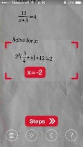 PhotoMath lets you solve math problems using your iOS device's camera