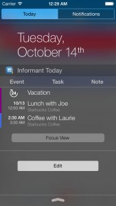 Pocket Informant optimized for iOS 8 with Today widget, Touch ID support and more features