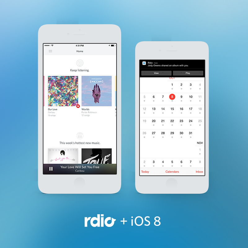 Rdio app optimized for iOS 8, iPhone 6, CarPlay and higher-quality audio