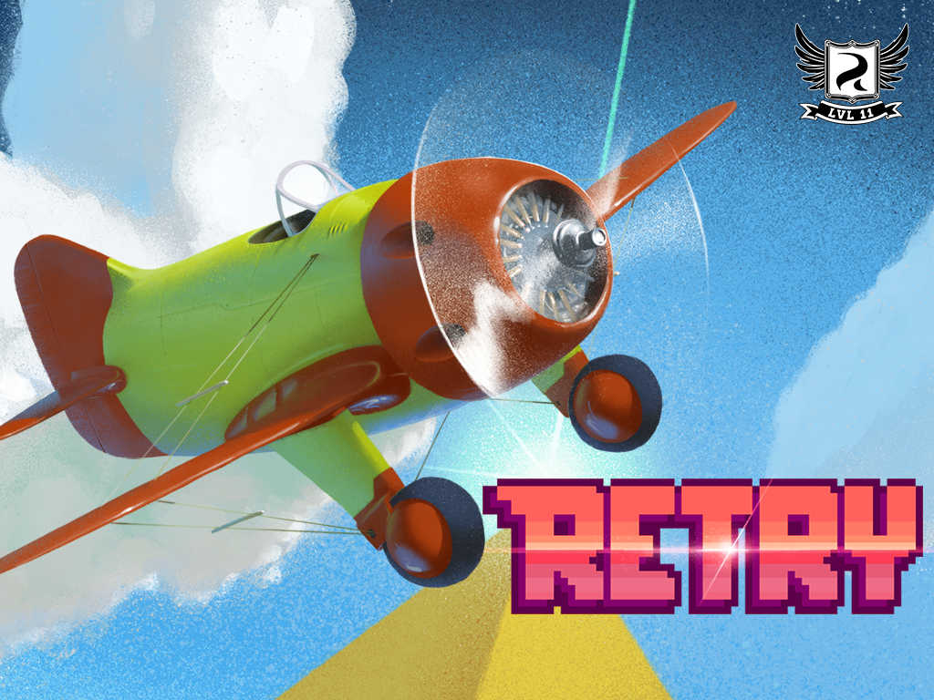 Retro flying game Retry takes flight as first title released by Rovio's LVL 11 publishing arm