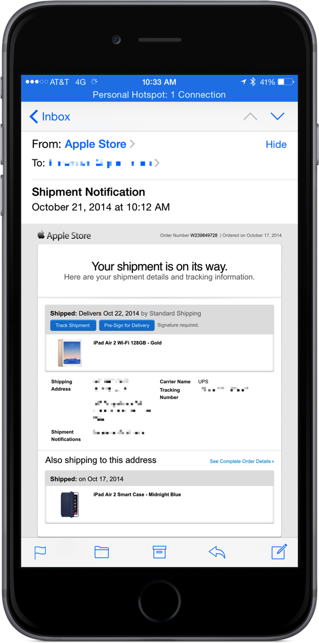 The first iPad Air 2 shipments are set to arrive tomorrow, Oct. 22