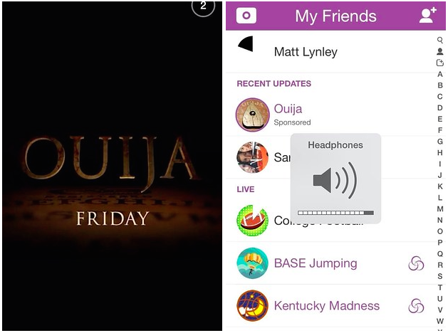Boo! Snapchat's very first ad has arrived and it's for the upcoming horror film 'Ouija'