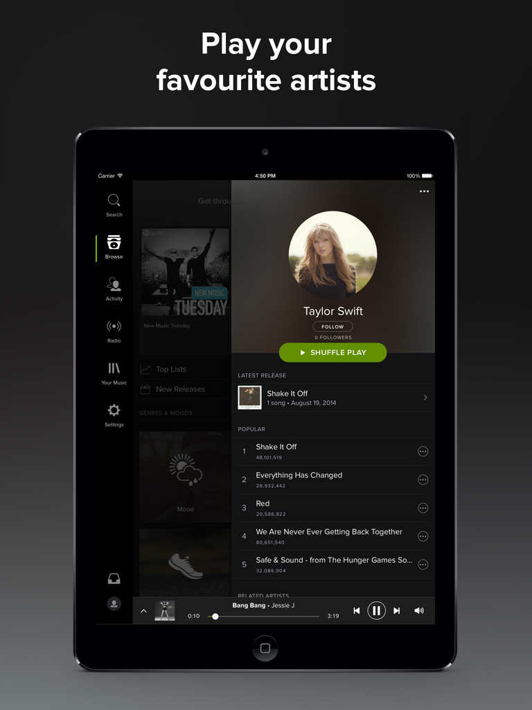 Spotify finally brings its dark theme and Your Music collection to its iPad app