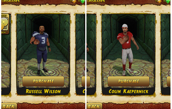 Temple Run 2 now features NFL players as unlockable characters