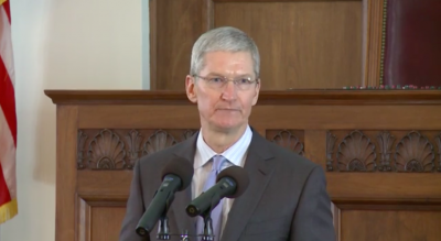 Apple CEO Tim Cook talks civil rights issues at Alabama Academy of Honor induction