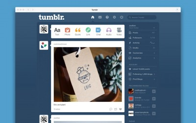 Tumblr releases official app optimized for OS X Yosemite on the Mac App Store