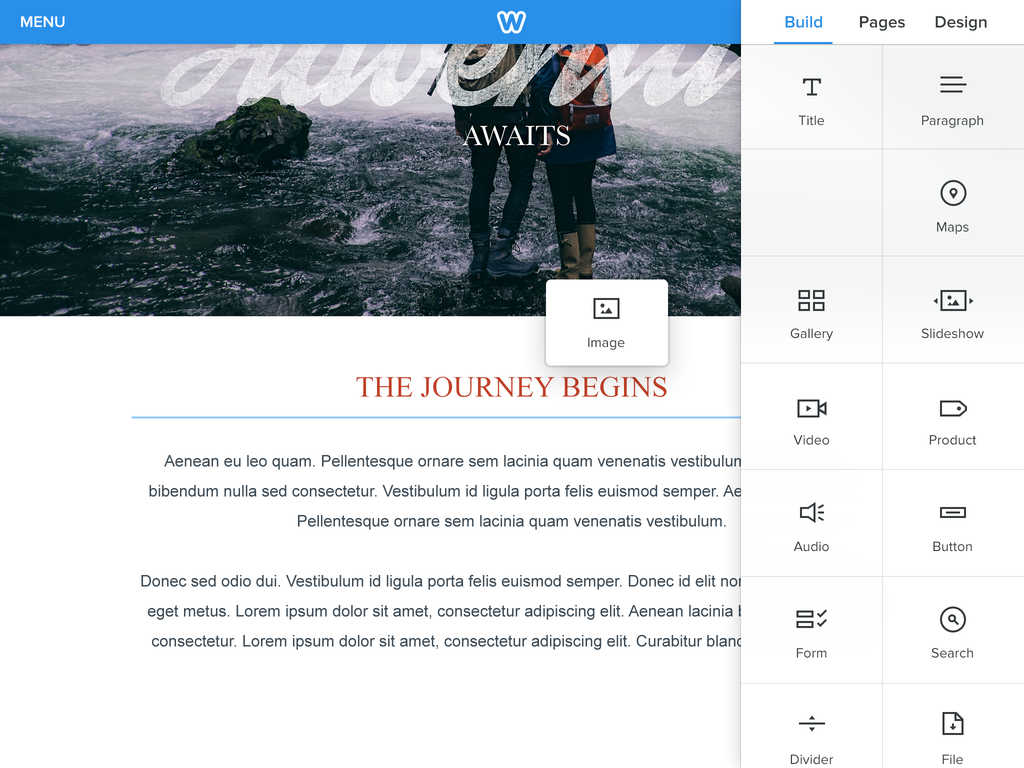 Weebly now lets you easily create websites from start to publish with its new iPad app