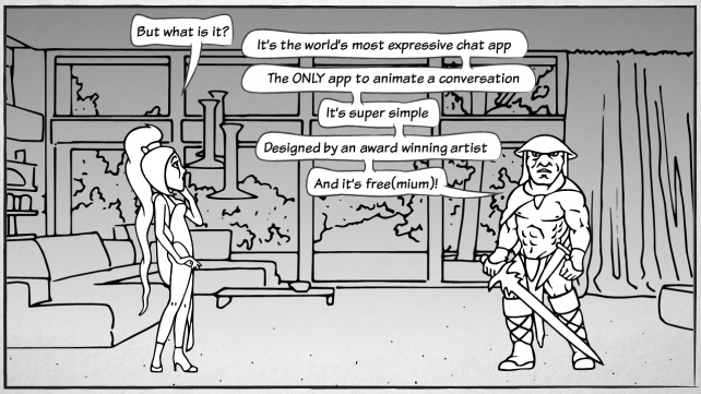 Say hello to comiXchat, where messages become real-time comic scenes
