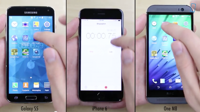 Comparing the iPhone 6 to the Samsung Galaxy S5 and HTC One M8