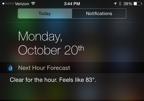 Dark Sky update lands with iPhone 6 optimization and a Notification Center widget