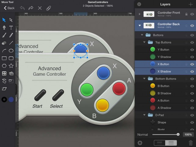Version 2 1 Of Idraw For Ipad Features Ios 8 Optimizations New Layers Pane And More