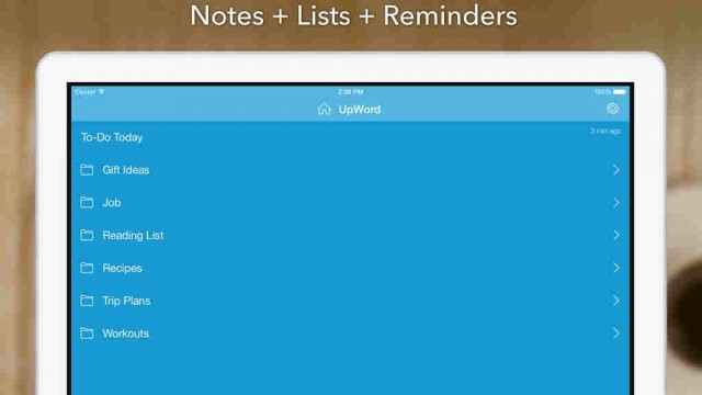 Take note: UpWord notepad app goes universal for iPad