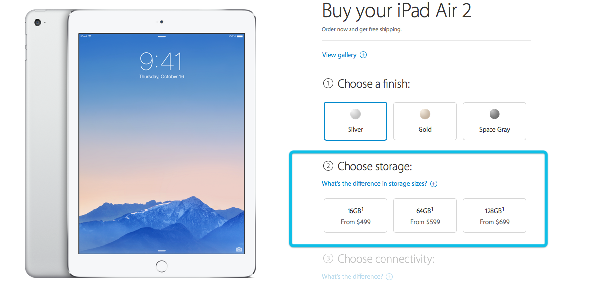 It's amazing just how little Apple pays for memory on the new iPad Air 2
