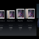 The iPad mini 3 starts at $399 and will be available next week