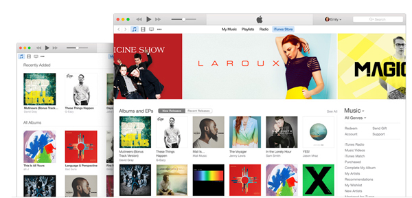 Apple releases a flatter iTunes 12.0.1, designed for OS X Yosemite