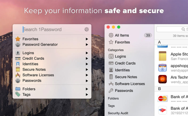 AgileBits releases a redesigned 1Password 5 for OS X Yosemite