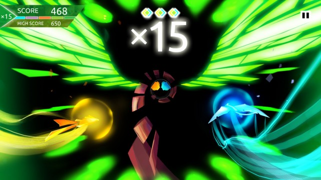 Entwined unites with iOS in Entwined Challenge, a gorgeous action reflex game
