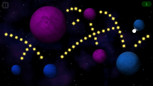 Fall through space to collect the stars in ORBB, an ethereal physics-based game